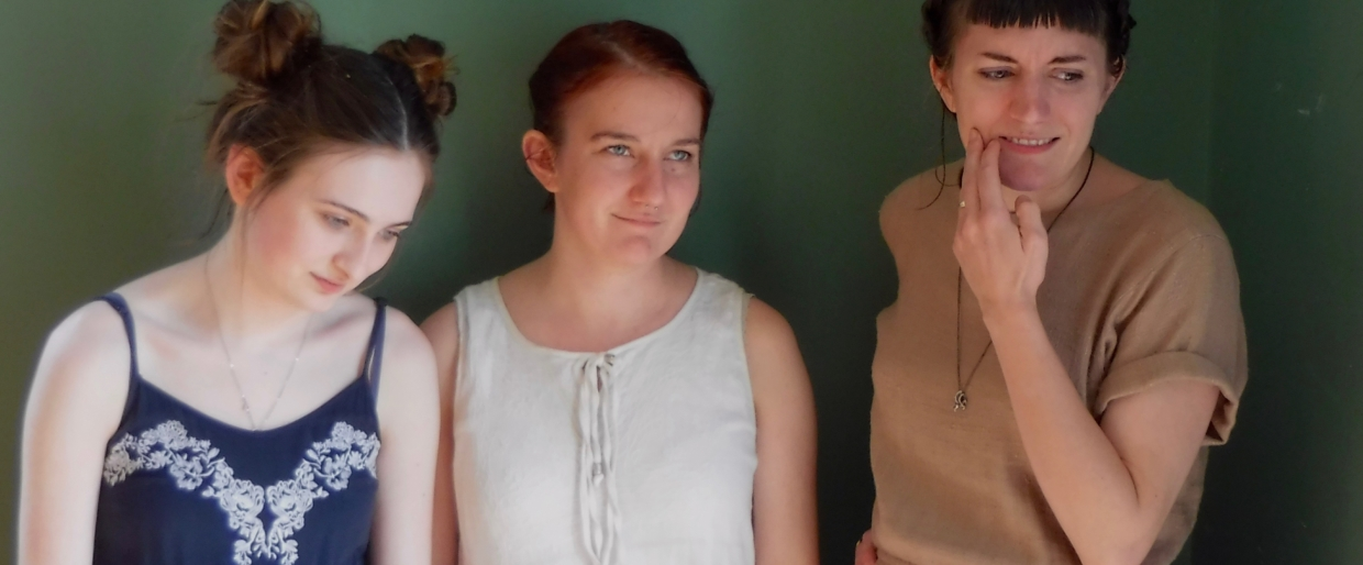 my three daughters 2017 The Traveling Trio. My three lovelies, all talented, all intelligent, and all beautiful (and always up for a less-than-typical portrait).