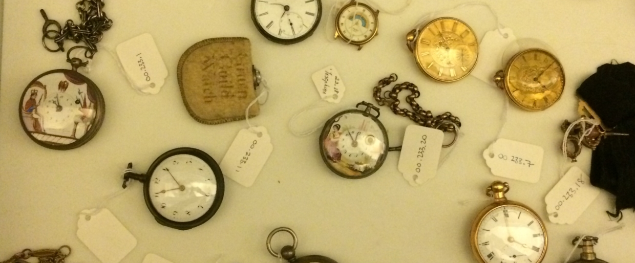 pocket watches in New Bedford Whaling Museum archives New Bedford, MA, 2013